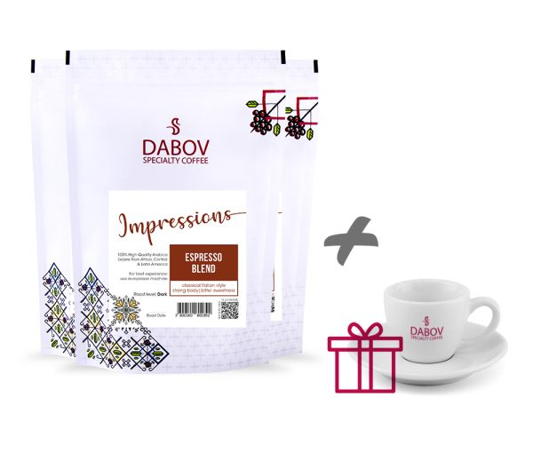 DABOV-SPECIALTY-COFFEE-PACK-3-X-200-GR-impressions-gift-CUP